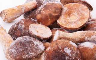 Правила заморозки белых грибов