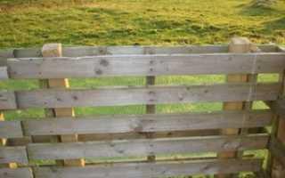 Как сделать забор из деревянных поддонов